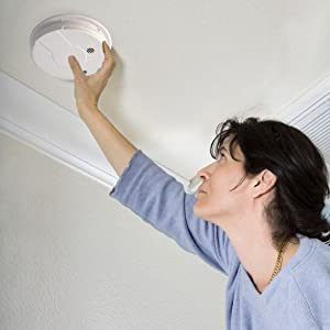 Battery Operated Ionization Smoke Alarm with Test Button