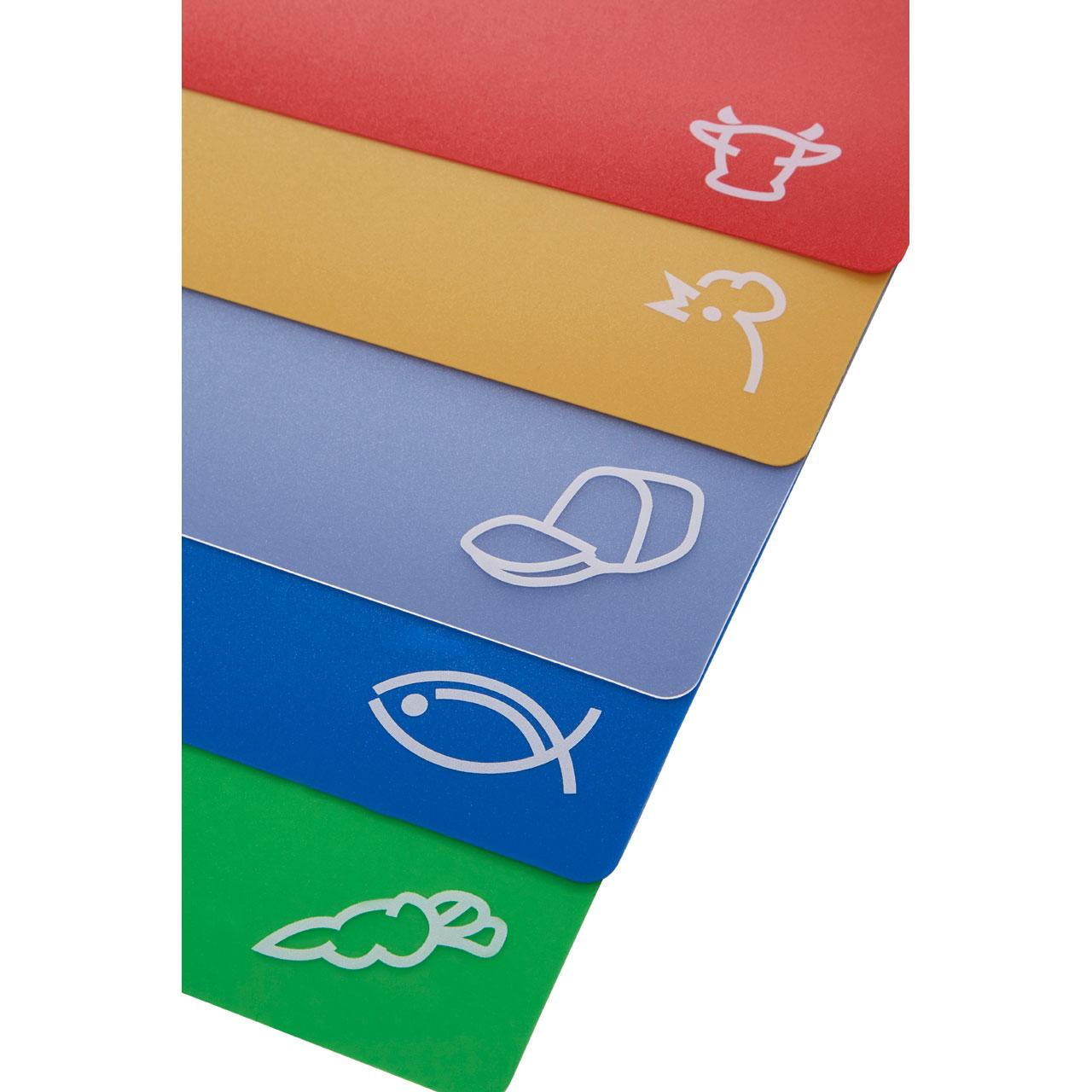 The item for sale is premier set of 5 coloured flexible chopping - Colourful Chopping Mats