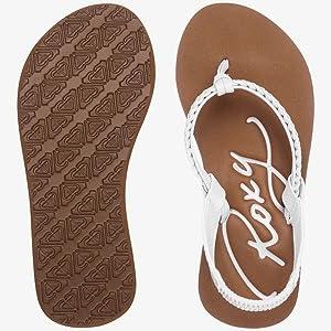roxy little girls sandals, flips flops, roxy, billabong, sanuk, reef, beach shoes, summer
