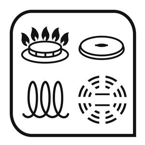 Tefal Duetto set de 5 piezas ollas, cazos y cacerolas Compatibilidad de cocinas