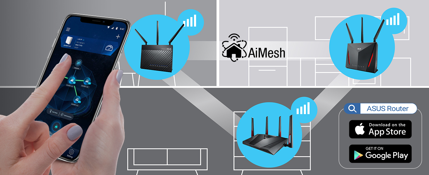 Works with ASUS AiMesh