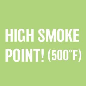 high smoke point 500 degrees roasting searing baking stir-fry