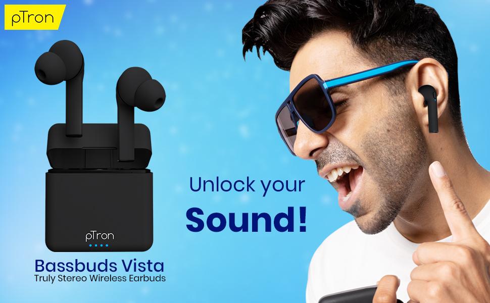 pTron Bassbuds Vista Wireless earphones