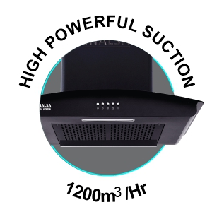INALSA, ZYLO BK, COOKER HOOD, CHIMNEY, PUSH BUTTON , FILTERLESS, 1200 SUCTION