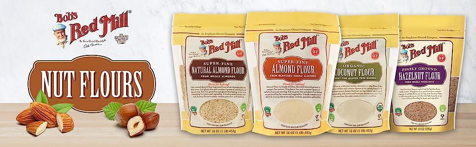 bobs red mill bob alternative nut flours flour hazelnut almond coconut natural keto gluten free gf