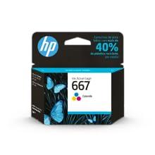 Cartucho de Tinta HP 667 Colorido Original 3YM79AL