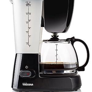 Tristar CM-1238 – Cafetera, volumen 1,25 litros, función para mantener el calor
