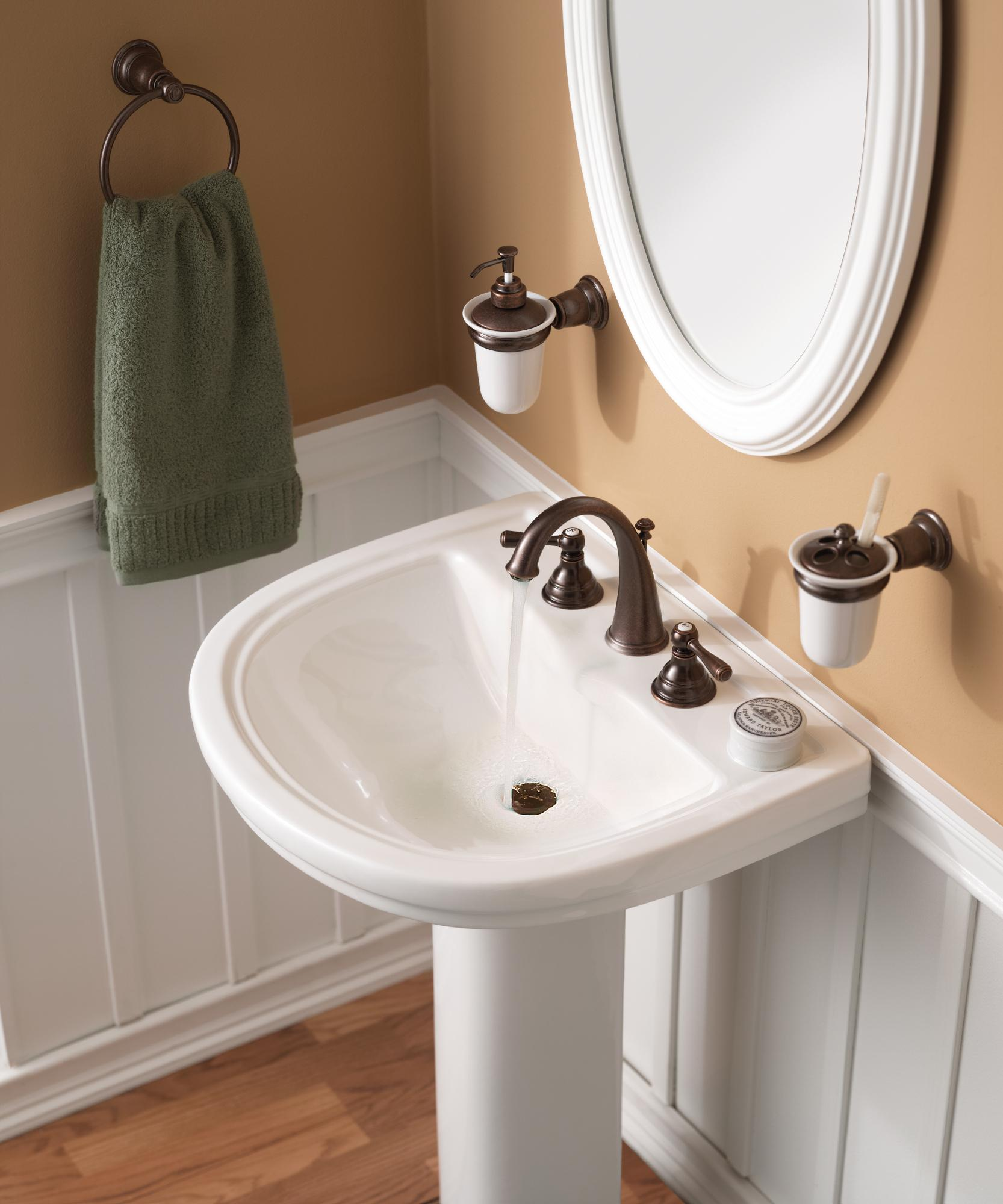 Wrought Iron Bathroom Faucets: Moen T6125WR Kingsley Two-Handle High Arc Bathroom Faucet
