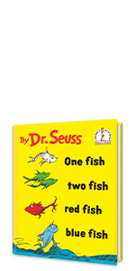 ONE FISH TWO FISH RED FISH BLUE FISH by Dr. Seuss poetry baby shower gift classic children's books