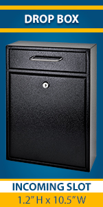 Drop Box Wall Mount sterileLocking Document Mailbox