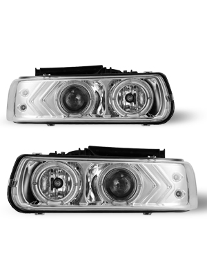 Black//Clear 1999-2006 Chevrolet Truck /& SUV Projector Headlights