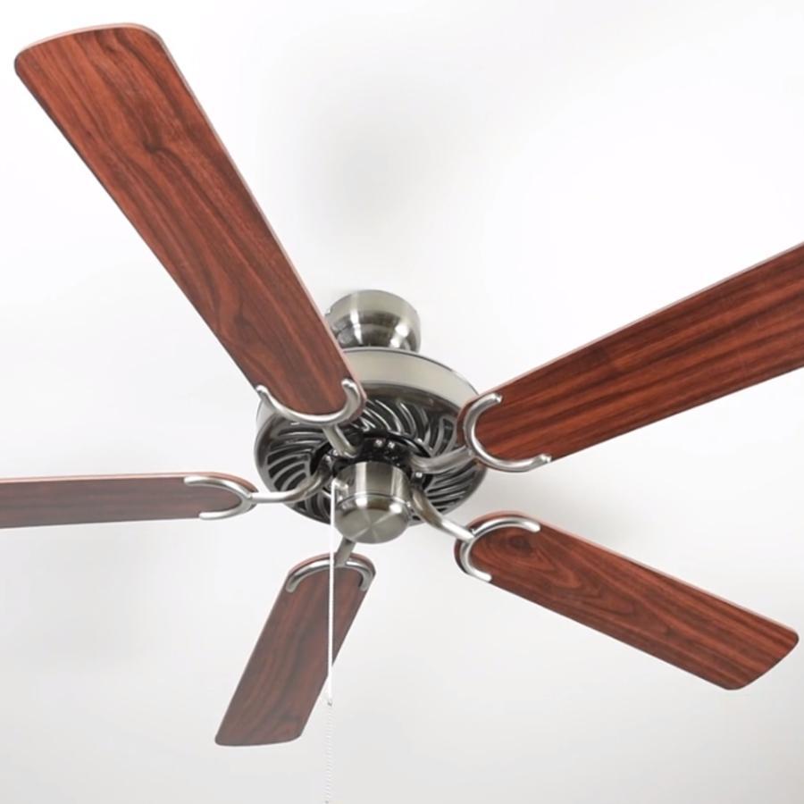 Pepeo Potkuri ventilador de techo sin luz, carcasa de bronce viejo, aspas reversibles blanco con insertos de ratán, 132 cm, para habitaciones de hasta ...