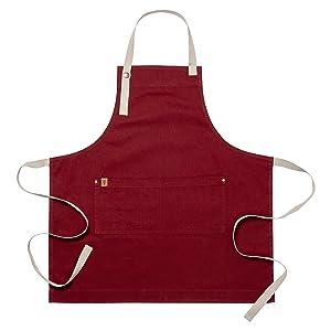 red apron, steve harvey arpon, ayesha curry apron, chefs apron, hostess apron