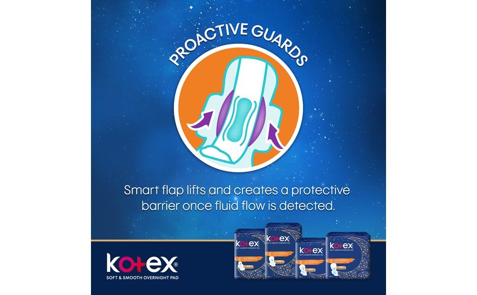 Kotex Slim Overnight - protective guards