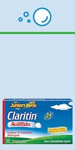 Junior's Claritin Non-Drowsy Allergy RediTabs childrens claritin childrens allergy medicine