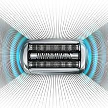 Braun Series 7 7898CC Wet&Dry Rasoio Elettrico con Sistema Clean&Charge, Argento