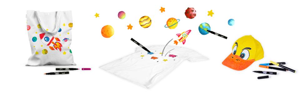 Jovi 1410 - Estuche, 12 rotuladores textil, colores surtidos: Amazon.es: Oficina y papelería