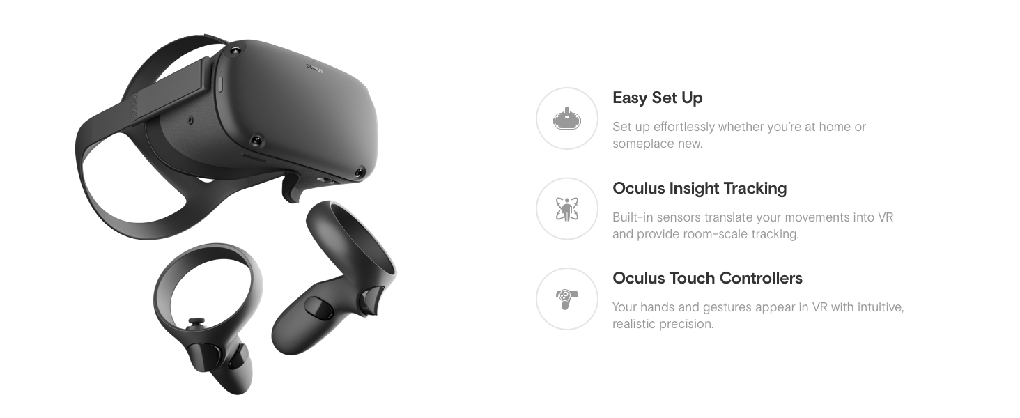 Amazon com: Oculus Quest All-in-one VR Gaming Headset