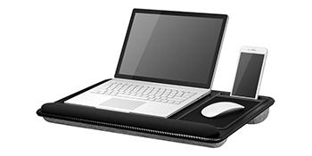 home office pro, lap desk, lapgear, lapdesk, media desk, phone slot, device ledge, wrist pad