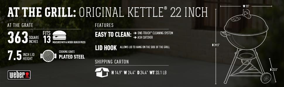 "Lò nướng Weber Original Kettle 18"" & 22"""