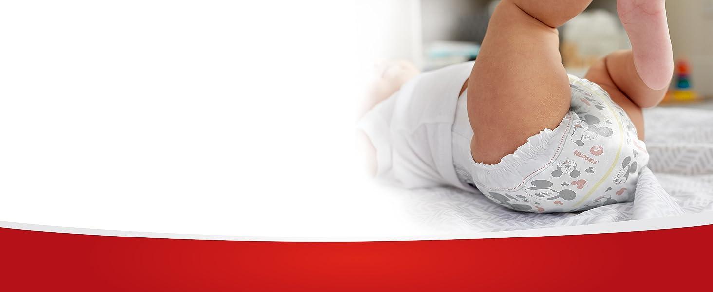 Huggies Snug & Dry Baby Diapers Eliminate Leaks