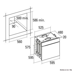 Cata| Horno eléctrico multifunción | Modelo CM760 AS WH | 6 funciones | Temperatura hasta 250ºC | Sistema de limpieza AquaSmart | Clase de eficiencia energética: A | Blanco: 249.01: Amazon.es: Grandes electrodomésticos