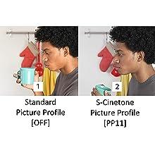 Standard Picture Profile on and off comparison