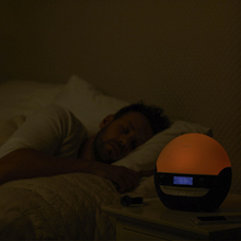 lumie bodyclock luxe 750D fading sunset dimmable display sounds sleep night light