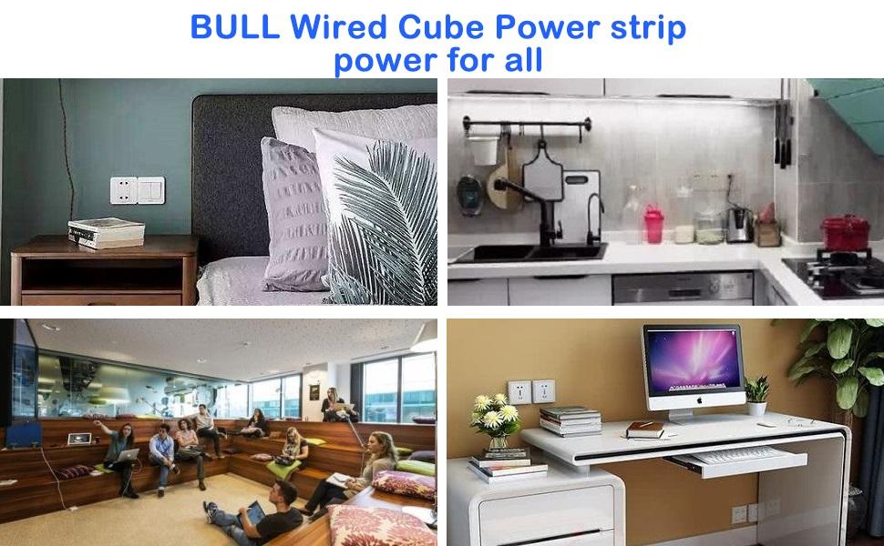 BULLWired Coube Power Strip 303U