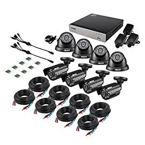 8CH 1080N DVR with 8pcs 720P Cameras No Hard Drive