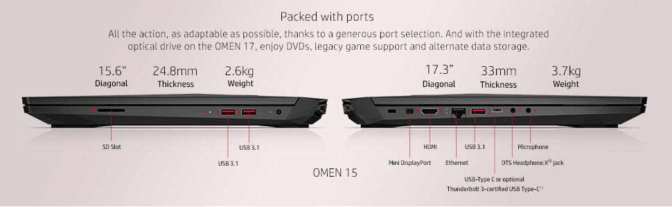 omen by hp 15-ce006nana gaming laptop, gaming laptops with intel i7 and  nvidia