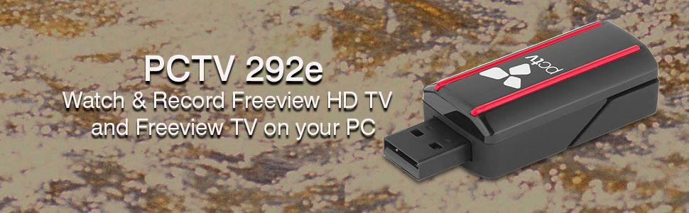 PCTV Systems DVB-T2 23076 nanoStick HD TV Tuner - Watch, Pause & Record  Digital Freeview Hi Definition and Standard Definition TV on your PC   Stream