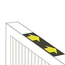 illustration of arrows on filtrete air filter pointing which direction to insert the filter