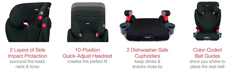 Britax Skyline Backless Booster - Features
