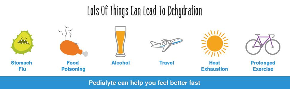 Pedialyte causes of dehydration