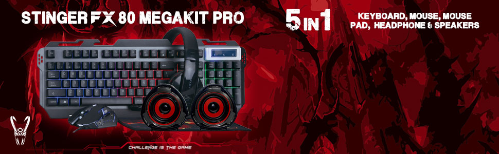 WOXTER Stinger FX 80 Megakit Pro - Kit Gaming (Teclado ...