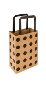 These paper retail shopping bags have a flat-fold design for easy storage.