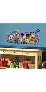 disney mickey mouse clubhousecapers peel and stick wall decals, peel and stick wall decals