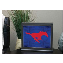 Southern Methodist Mustangs Colored Logo Collage Light Box Insert