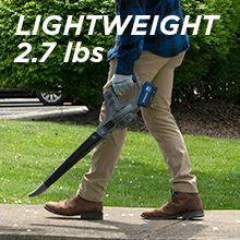 westinghouse 20V+ 20v lightweight compact 270 cfm 135 mph 2.7 lbs cordless lithium ion battery pack