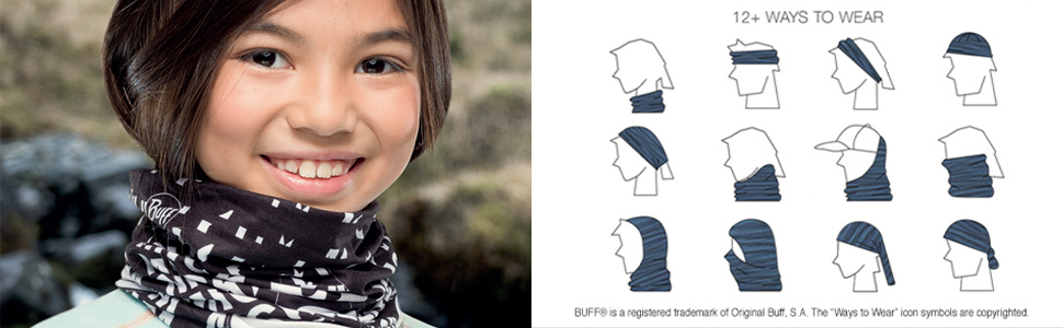 BUFF Kids /& Baby New Junior Original Multifunctional Headwear Crook Blue One Size