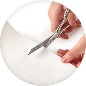 Hallmark premium wrapping paper features cutlines on reverse for straight cutting & easy wrapping
