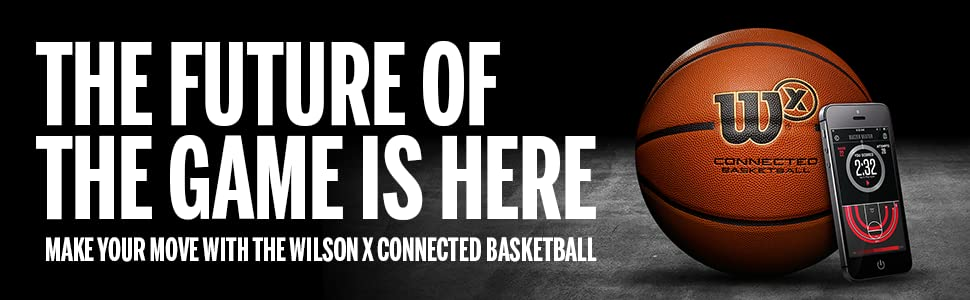 wilson x connected basketball with iphone and android app wilson