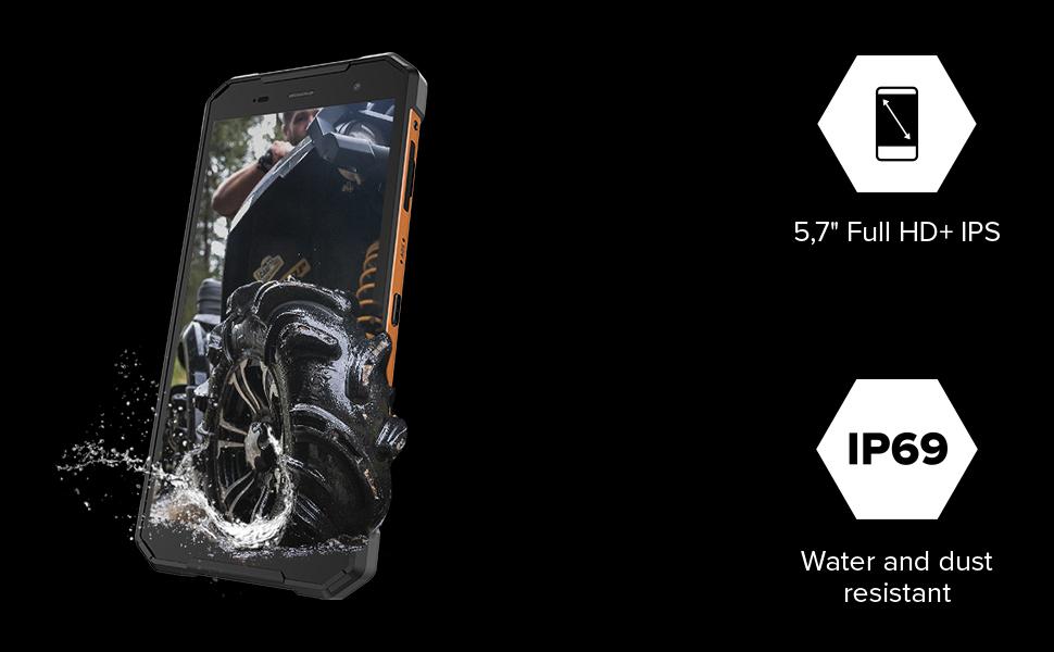 Hammer Explorer Pro 5 7 Ips Outdoor Handy Militärstandard Smartphone Mega Akku 5000mah 48mp Kamera Esim Nfc Wasserdicht Stoßfest Lte 4g Ip69 Dual Sim Android 10 Orange Elektronik