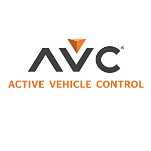 AVC (Active Vehicle Control) logo in gray and orange with white background