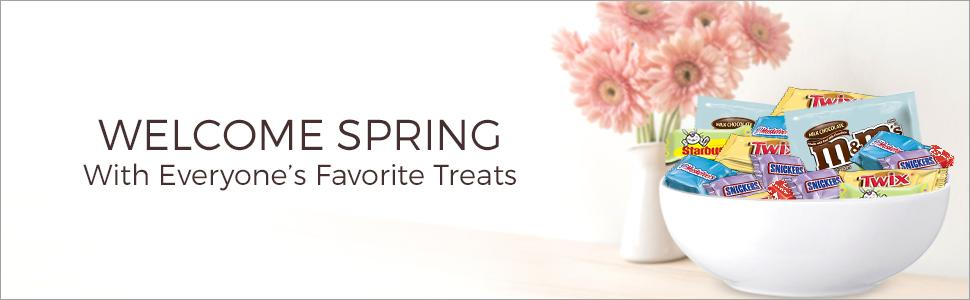Welcome spring with mini Easter candies and chocolate bars by MARS Brand.