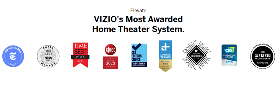 Elevate VIZIO's Most Awarded Home Theater System- Best of CES 2020