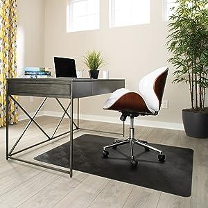 hard hardwood concrete laminate floor tile protect desk chair mat