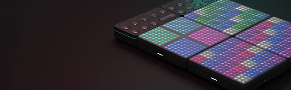 ROLI Lightpad Block M Live Touch Loop Seaboard Rise MIDI Controller EDM Grand Stage