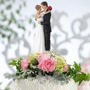 Bride amp; Groom Dancing Cake Topper